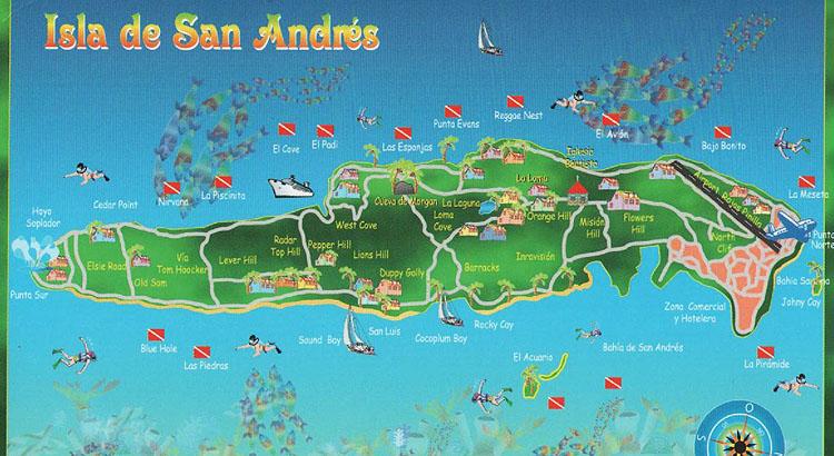 San Andrés - Mapa