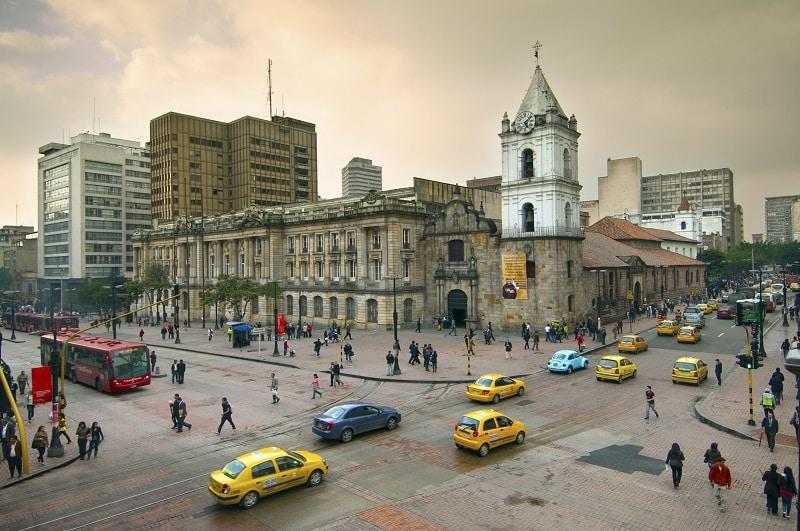 Cidade Bogotá na Colômbia