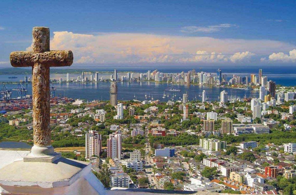 Vista de Cartagena das Índias