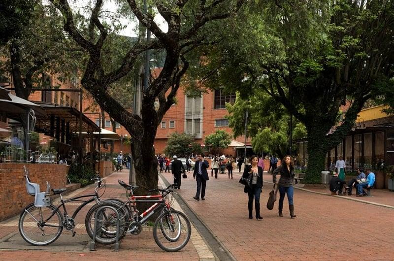Zona Rosa em Bogotá