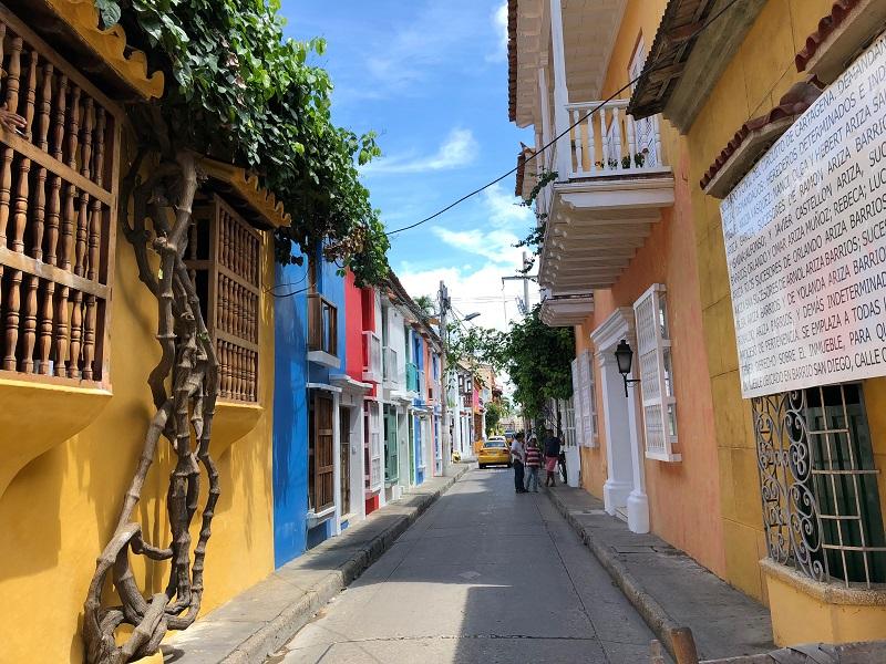 Bairro San Diego em Cartagena