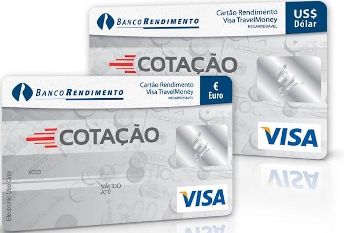 Cartão pré-pago da Cotação