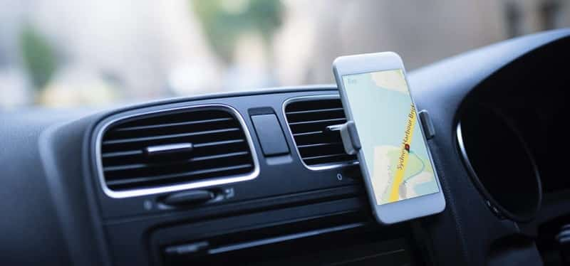 GPS no celular - carro