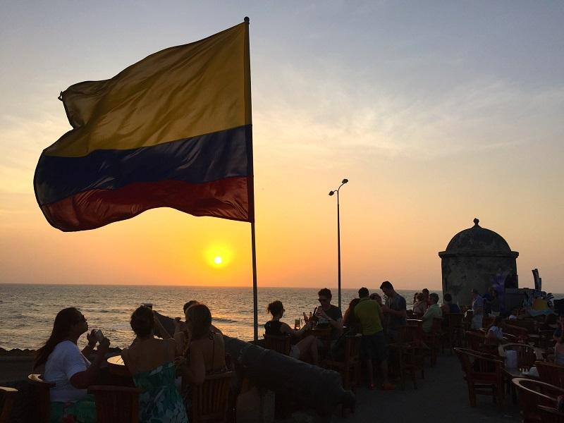 Pôr do sol na Colômbia