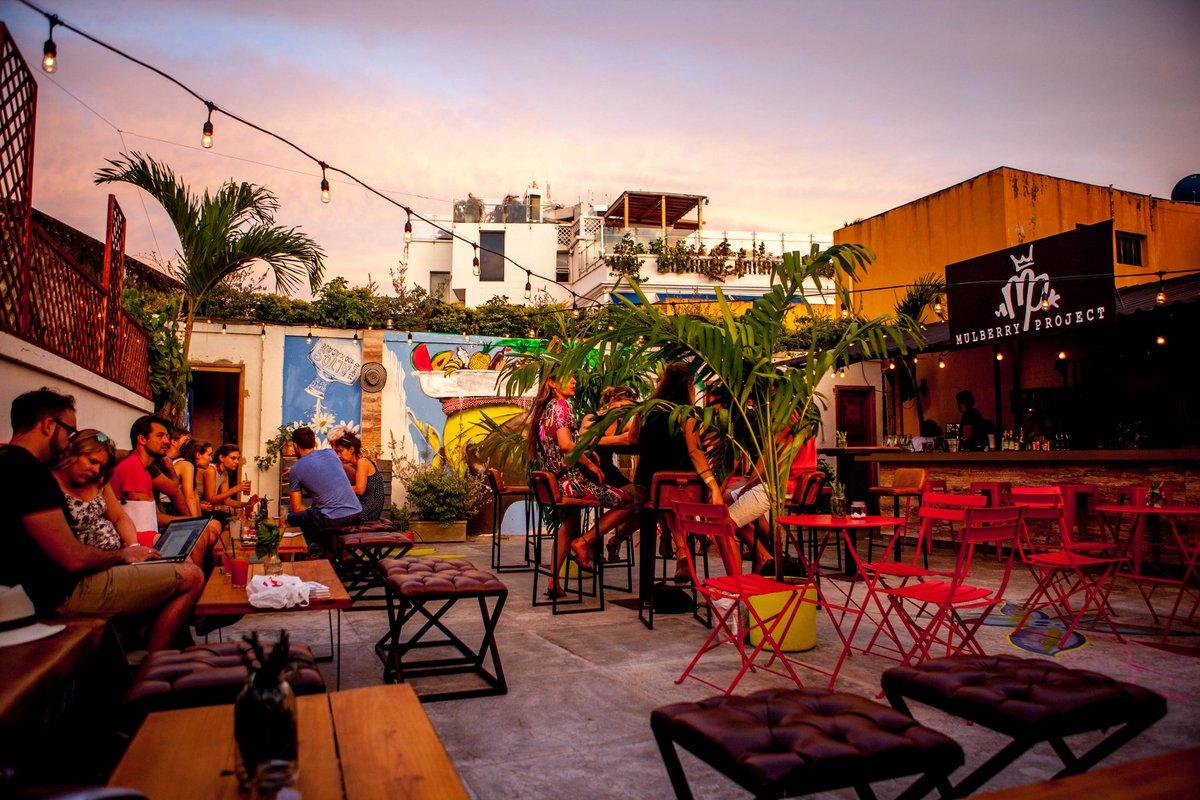 Terraço do Alquimico Bar em Cartagena