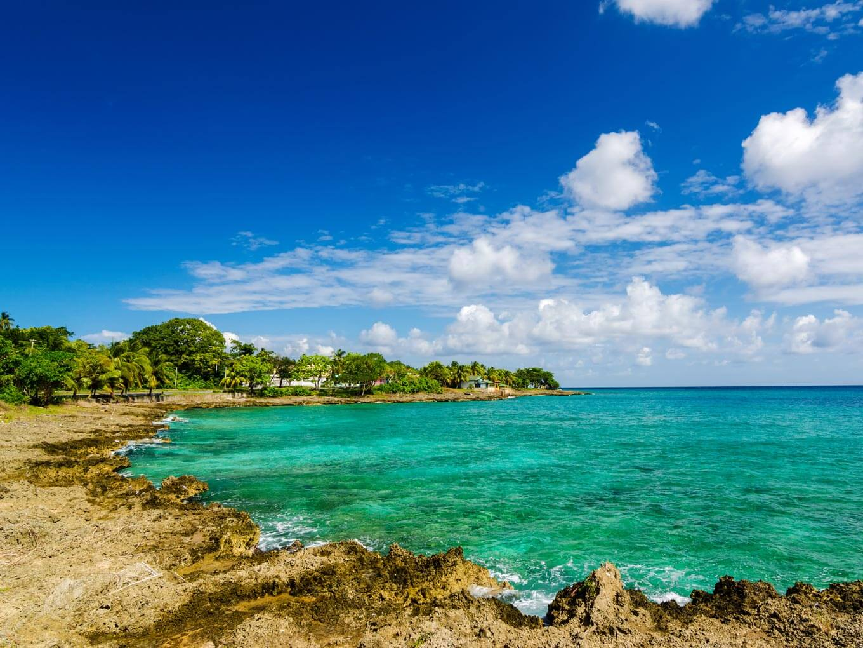 Praia em San Andrés
