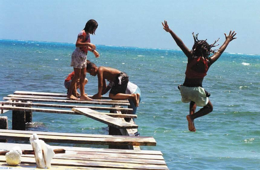 Crianças em San Andrés