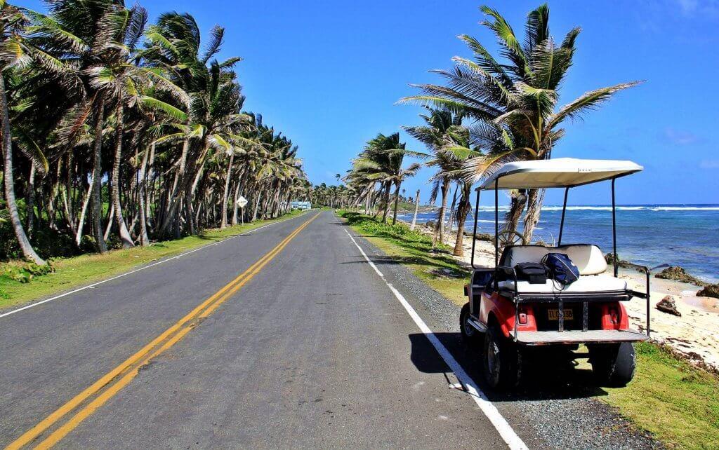Carrinhos de golfe em San Andrés