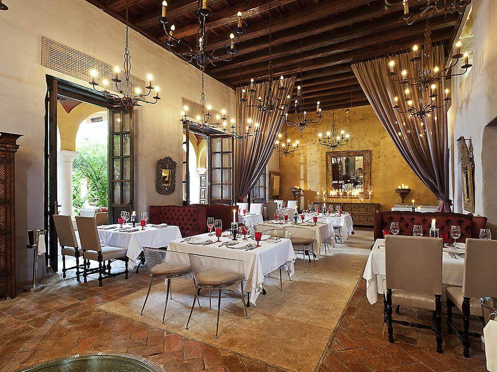 Restaurante romântico em Cartagena