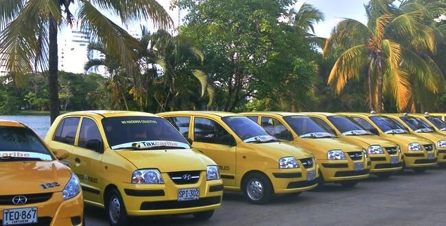 Gorjetas em táxis de Cartagena