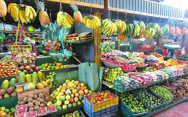 Mercado Minorista em Medellín - Colômbia