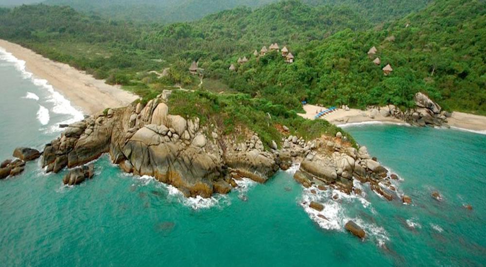 Praias doParque Nacional Natural de Tayrona