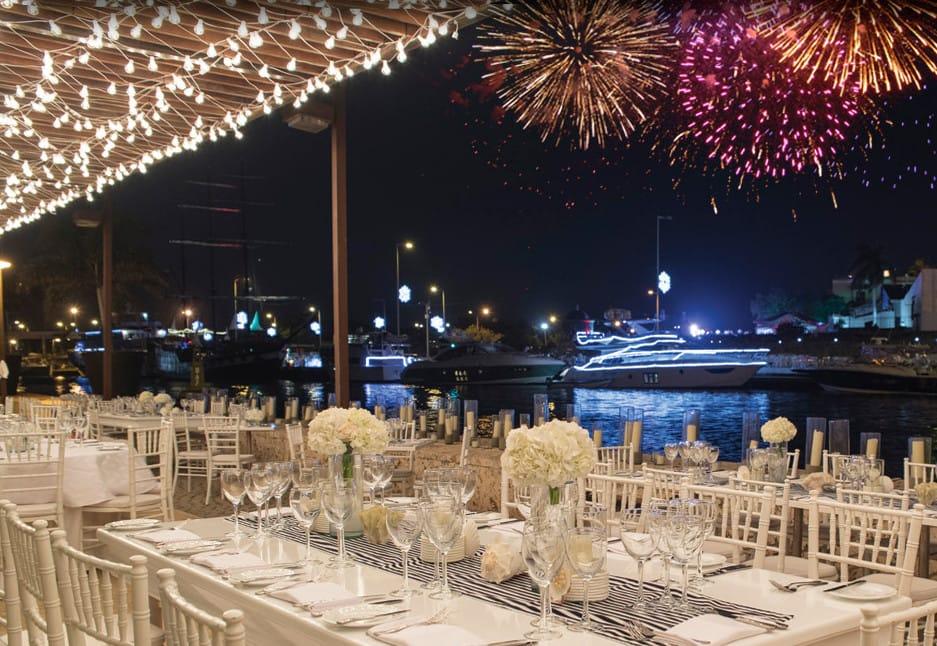 Restaurante no ano novo em Cartagena