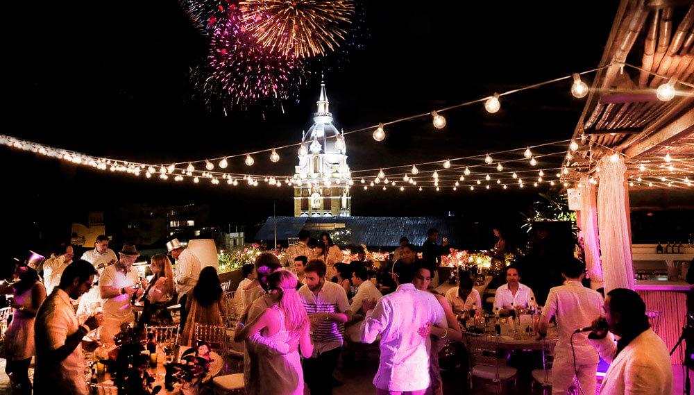 Festa de ano novo em Cartagena
