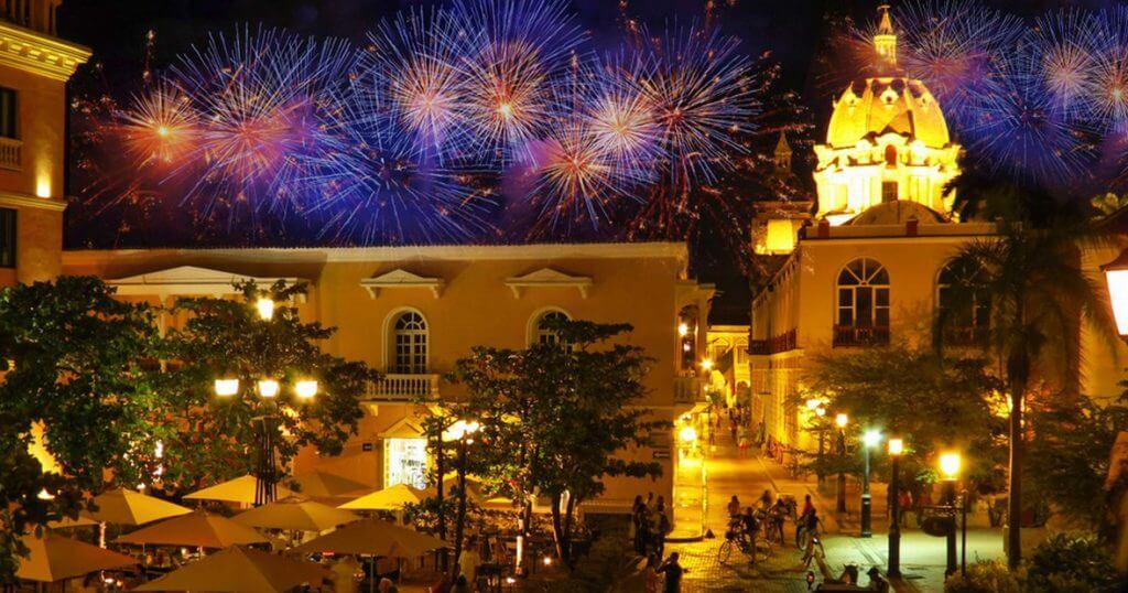 Ano novo em Cartagena