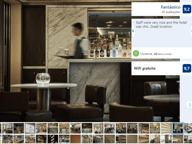 Bar do Four Seasons Hotel em Bogotá