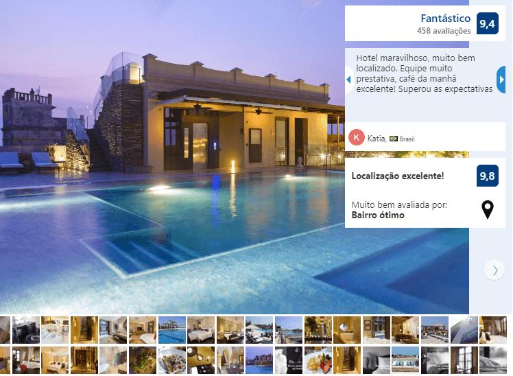 Piscina do Bastión Luxury Hotel