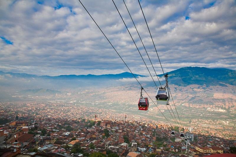 Bondinho em Medellín