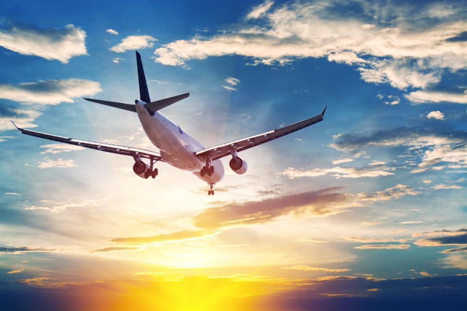 Voo de avião pela Colômbia