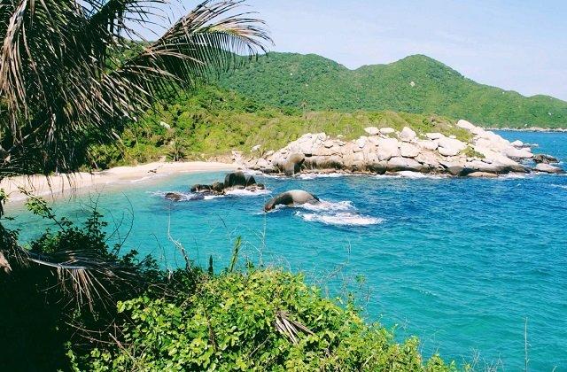 Playa Taganga na Colômbia