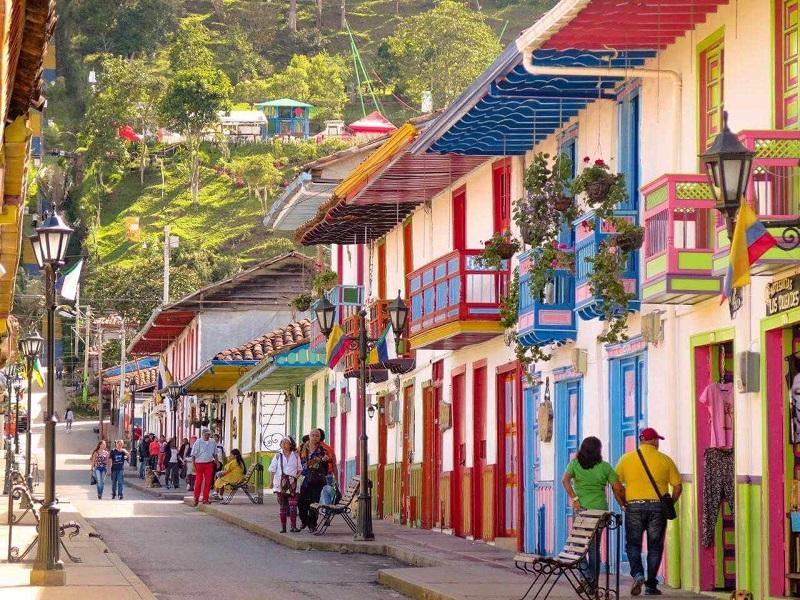 Casas do Vale Cocora na Colômbia