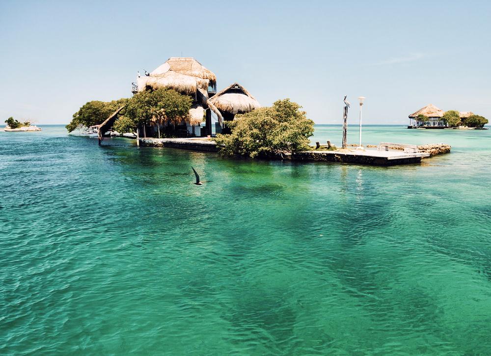 Estrutura na Islas del Rosario em Cartagena