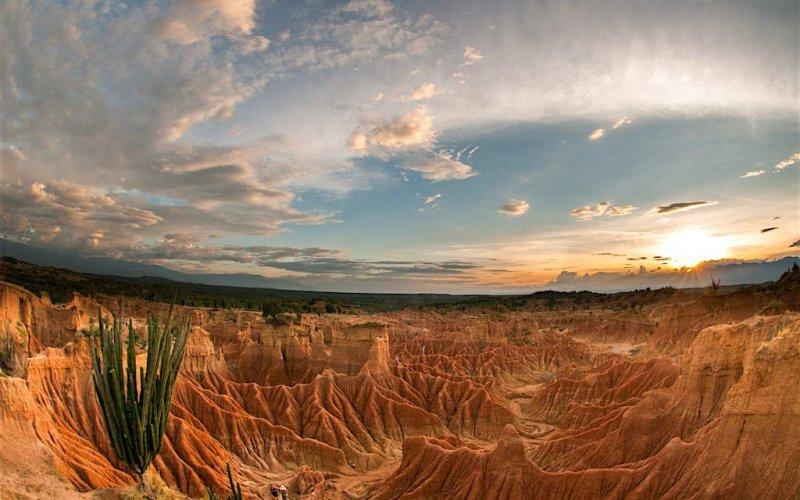Deserto Tatacoa na Colômbia