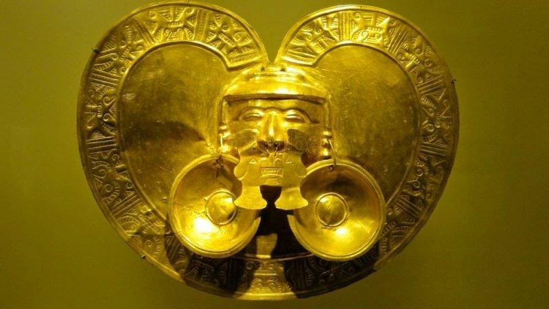 Peça do Museu do Ouro em Bogotá