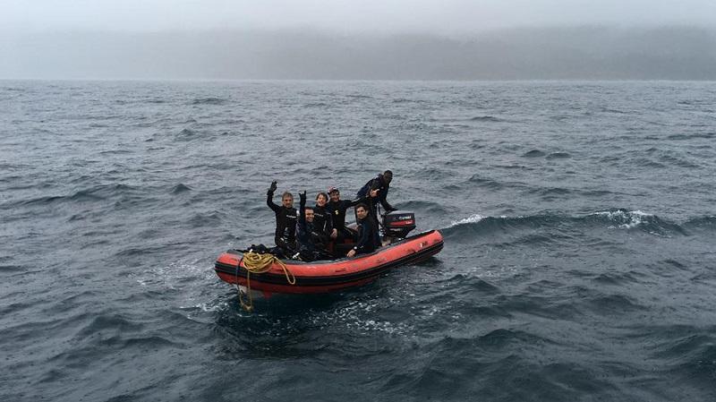 Passeio de bote na ilha Gorgona