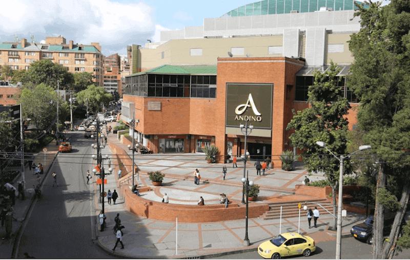 Entrada do Centro Comercial Andino em Bogotá