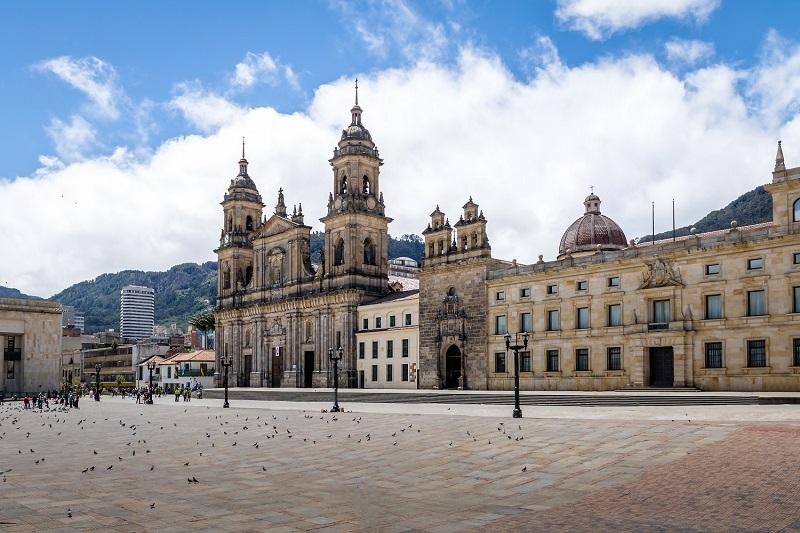 Plaza Bolivar em La Candelaria, Bogotá
