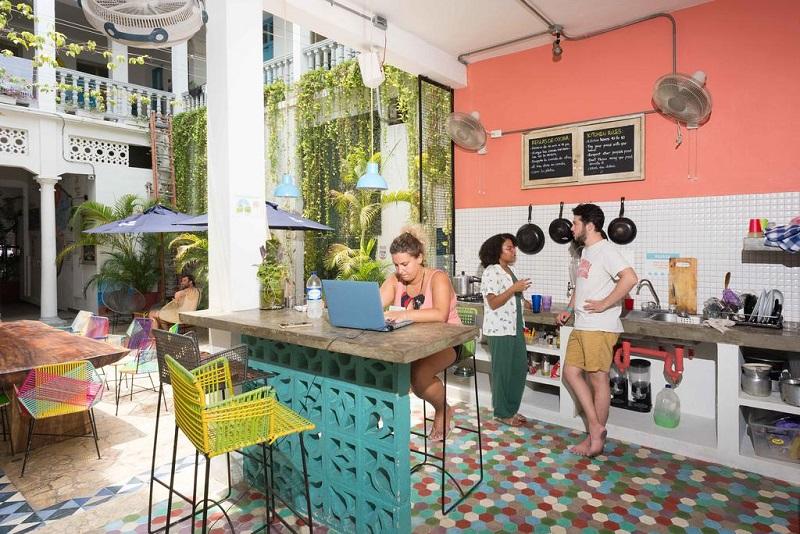 Cozinha do República Hostel Cartagena