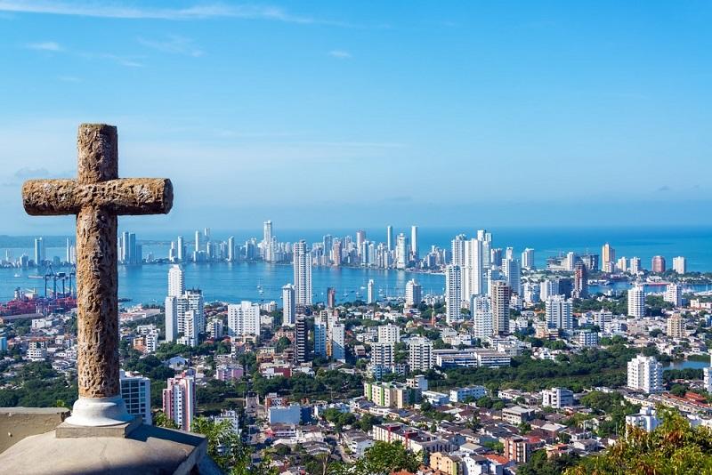Panorâmica da cidade de Cartagena na Colômbia