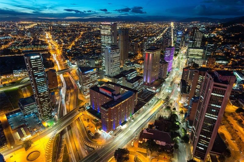 Bogotá de noite