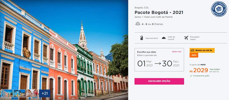 Pacote Bogotá Hurb