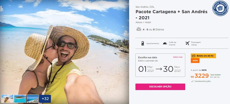 Pacote Cartagena + San Andrés Hurb