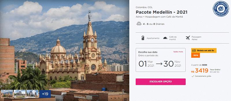 Pacote Medellín 2021 Hurb