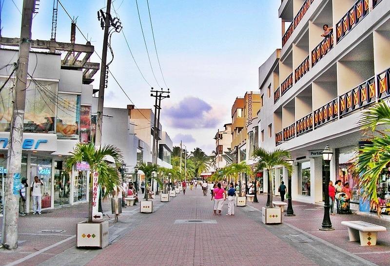 Rua em San Andrés