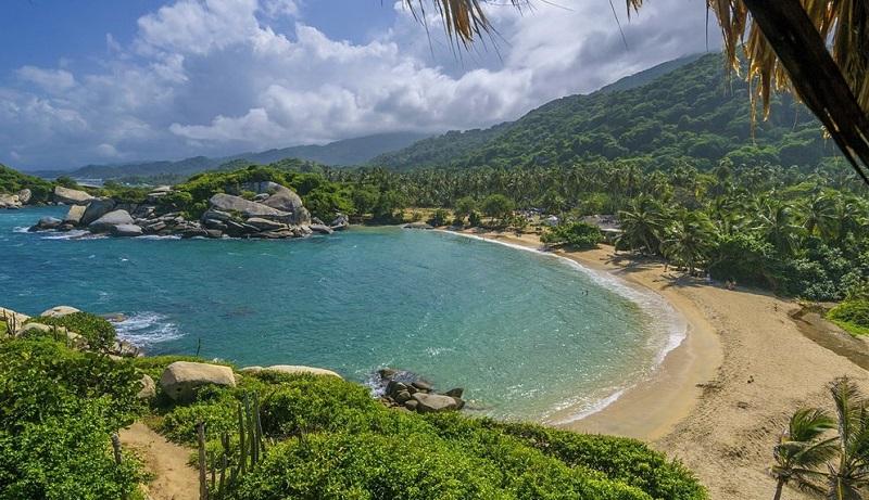 Beleza de praia em Cartagena