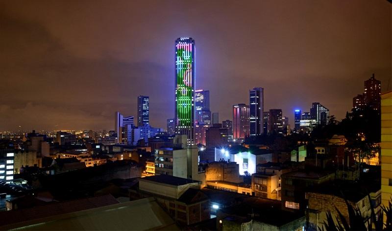 Mirante da Torre Colpátria em Bogotá