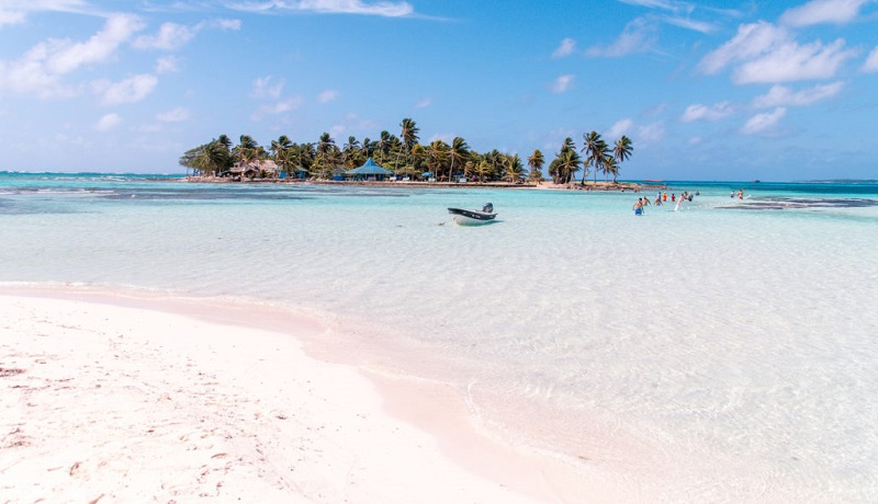 Praia paradisíaca de San Andrés