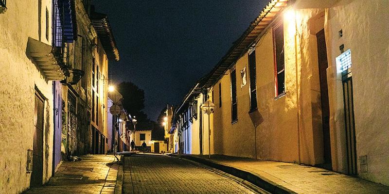 Bogotá no período noturno