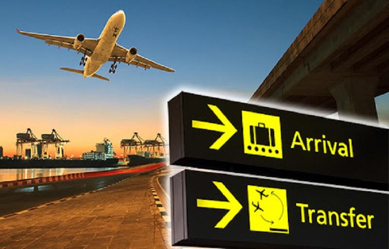 Placa de transfer no aeroporto